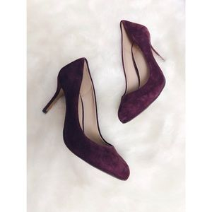 Vince Camuto | Maroon Suede Leather Round Toe Pump